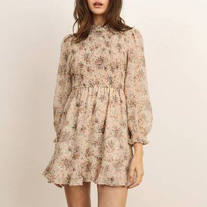 New with tags Floral Mock Neck Mini Dress